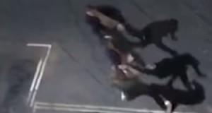 The fracas outside the nightclub last autumn.