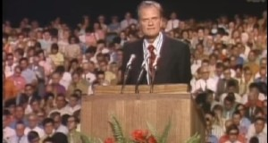 In his early days, Billy Graham preached to mass audiences - like a rock star or presidential candidate.