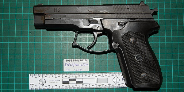 One of the guns found by police