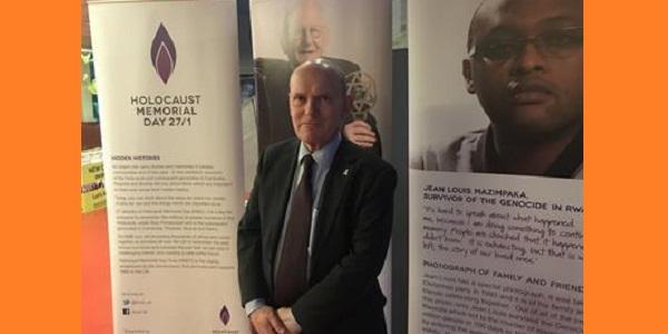 Executive Mayor John Biggs visited the Holocaust Exhibition
