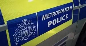 met police car door