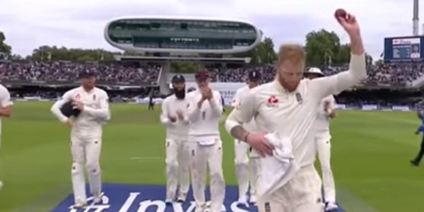 Happier days: Stokes with England during a match against the West Indies last year.