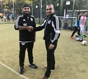 Emdad (left) is relishing the challenge.