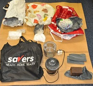 Drugs and related paraphernalia found during the search.