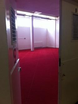A glimpse inside the modest prayer room